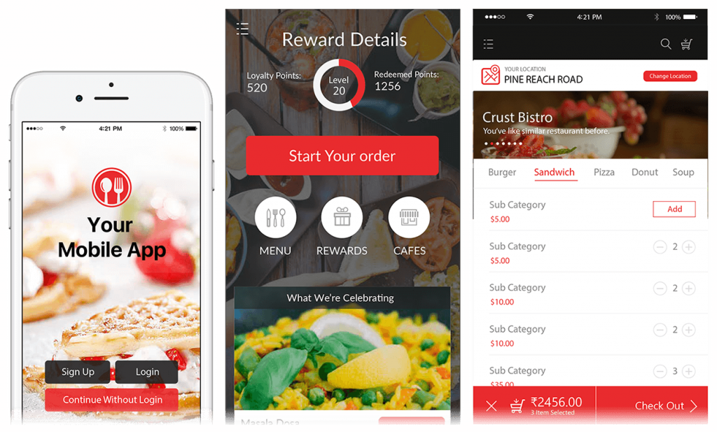 Starving Marvin Online Ordering App