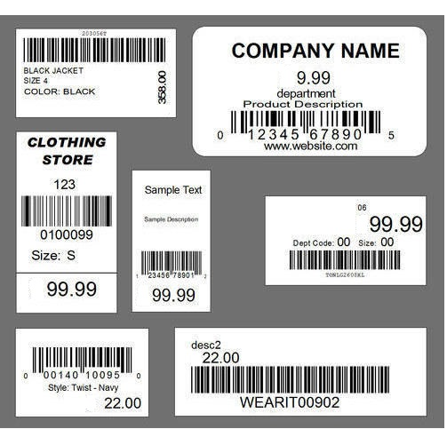 retail pos label design